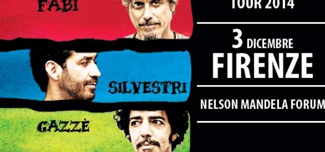 Fabi, Silvestri e Gazzè al Mandela Forum